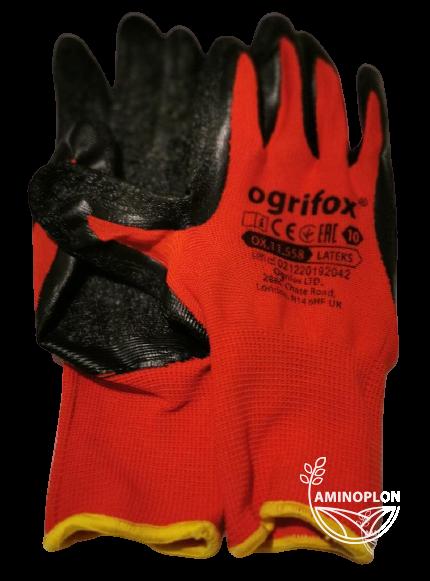 Rękawice ochronne powlekane latexem rozm. 10 (XL)