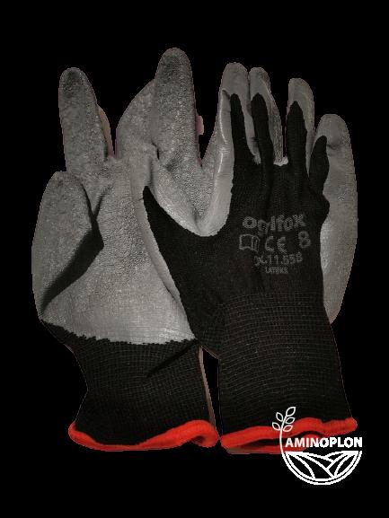 Rękawice ochronne powlekane latexem rozm. 8 (M)