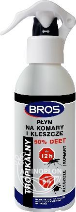 BROS spray na komary i kleszcze 50% DEET 130 ml