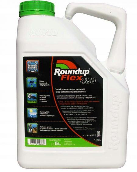 Roundup Flex 480 5 L  Randap Super Moc – na perz, na chwasty