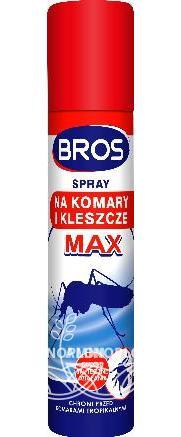 BROS spray na komary kleszcze i meszki MAX 90 ml