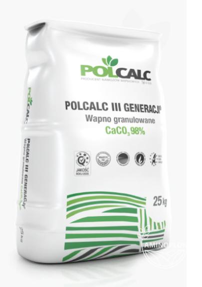 Wapno granulowane – nawóz 93-98% CaCO3 POLCALC 25 kg