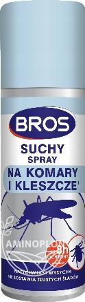 BROS suchy spray na komary i kleszcze 90 ml