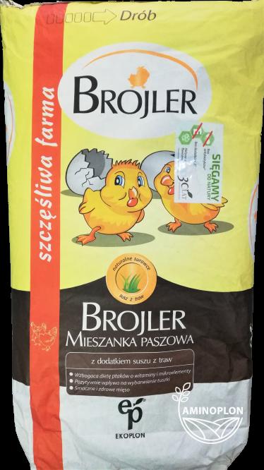 Brojler Grower Kruszonka 25kg – materiał paszowy
