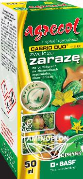 Cabrio Duo 112 EC 50ml – zwalcza zarazę na pomidorach i ziemniakach oraz inne choroby grzybowe
