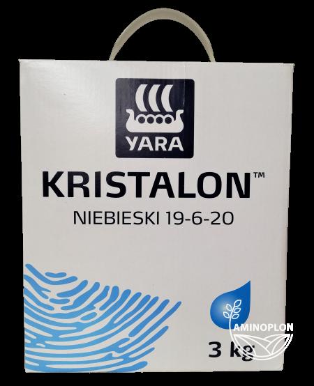 Yara Kristalon 19-6-20 Niebieski 3kg – nawóz bezchlorkowy N-P-K do fertygacji i zasilania dolistnego