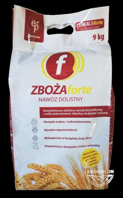 Zboża Forte Ekoplon 9kg – kompleksowy, krystaliczny nawóz dolistny do zbóż ozimych i jarych.