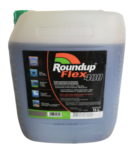 Roundup Flex 480 15L  Randap Super Moc – na perz, na chwasty