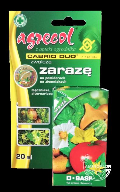 Cabrio Duo 112 EC 20ml – zwalcza zarazę na pomidorach i ziemniakach oraz inne choroby grzybowe