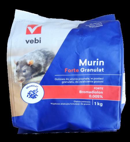 Murin Forte Granulat 1kg – trutka gryzoniobójcza, na myszy, na szczury