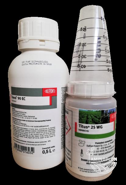 Titus 25 WG 100g (+Trend 90 EC) – na chwasty jednoliścienne w uprawie kukurydzy, ziemniaka, pomidora