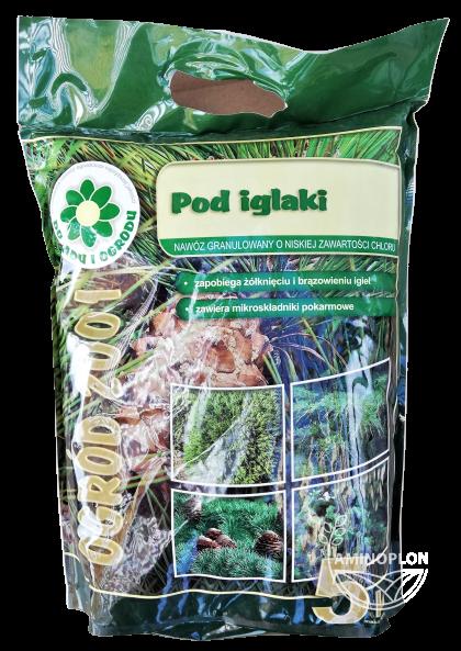 Nawóz Ogród 2001 Pod Iglaki 5kg – prawidłowy wzrost i pożądane wybarwienie igieł iglaków