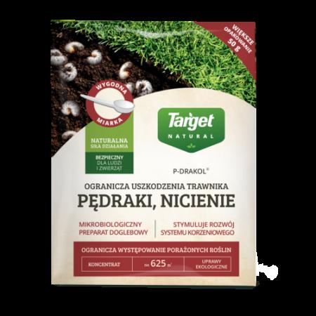 P-Drakol na trawniki 50g – mikrobiologiczny preparat doglebowy odstraszający nicienie, pędraki, larwy chrząszczy