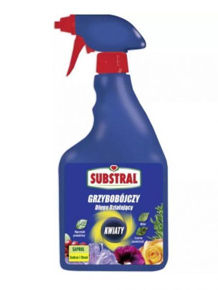 Substral Saprol Środek Grzybobójczy Spray 750ml – długodziałający środek grzybobójczy do róż, kwiatów, roślin kwitnących