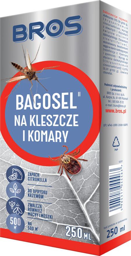 Bros Bagosel 250ml – oprysk na komary i kleszcze, na powierzchnię 500m2