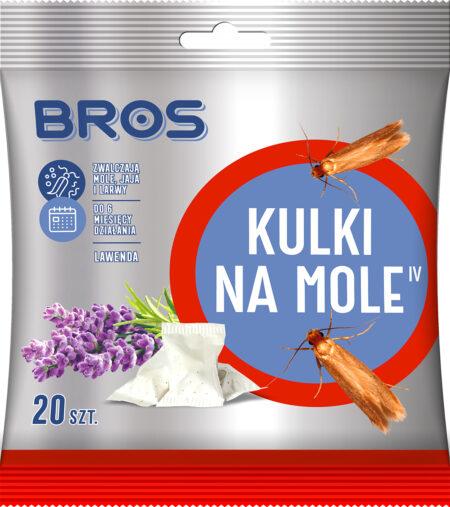 Bros Kulki na mole 20szt. – zwalcza mole, jaja i larwy