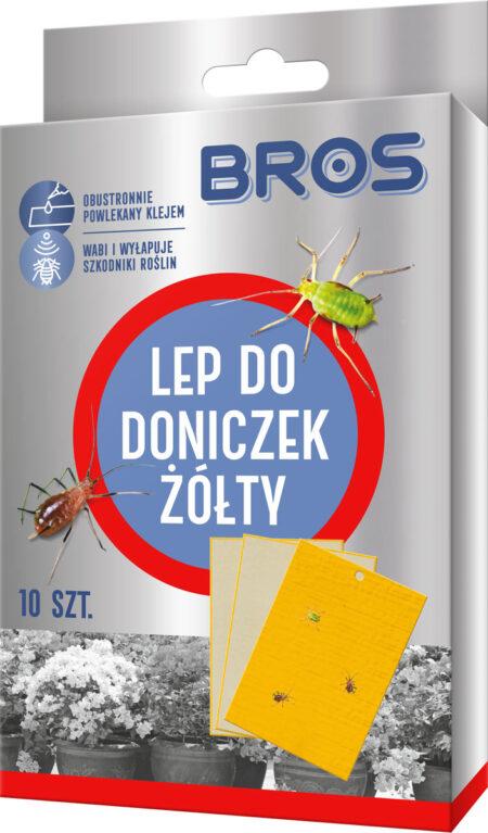 Bros Lep do doniczek żółty 10szt – pułapka klejowa na owady żerujące na roślinach