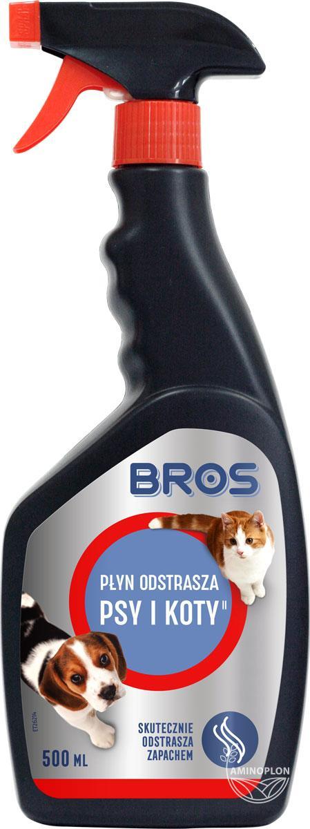 Bros Płyn odstrasza psy i koty 500ml – odstraszanie zapachem