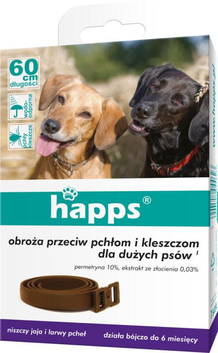 Happs obroża przeciw pchłom i kleszczom 60cm –  dla dużych psów