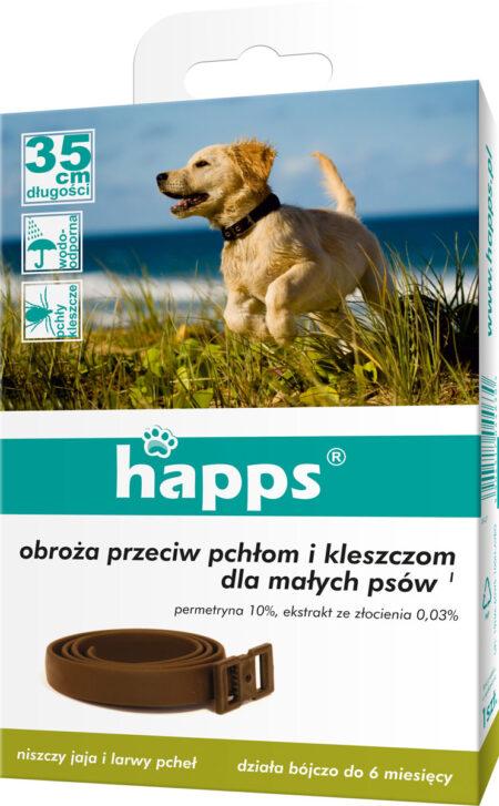 Happs obroża przeciw pchłom i kleszczom 35cm –  dla małych psów