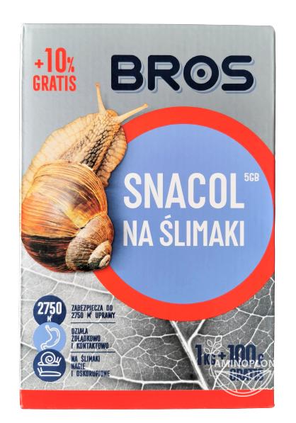 BROS SNACOL 1kg + 100g GRATIS – granulat,  trutka na ślimaki