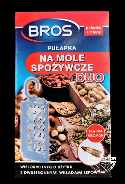 Bros Pułapka na mole spożywcze DUO + 2 lepy