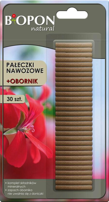 Biopon Natural pałeczki nawozowe + obornik 30szt – naturalne zasilanie roślin