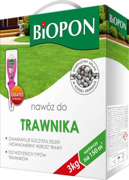 Biopon Nawóz do trawnika 3kg + Gratis – do wszystkich typów trawników