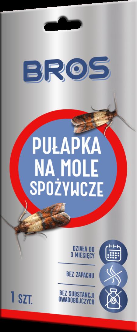 Bros Pułapka na mole spożywcze 1szt – zwalczanie moli spożywczych
