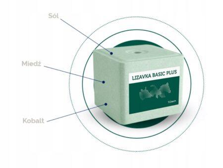 Lizawka solna basic PLUS zielona dla bydła koni kóz i zwierzyny leśnej 10kg – Ciech – materiał paszowy